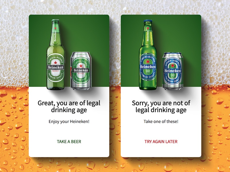 Heineken age checker