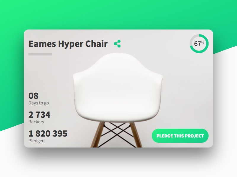 Chair crowdfunding